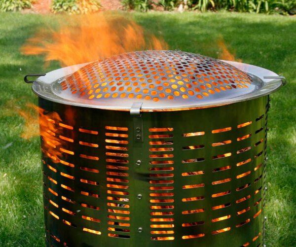 high temp safe burn barrel