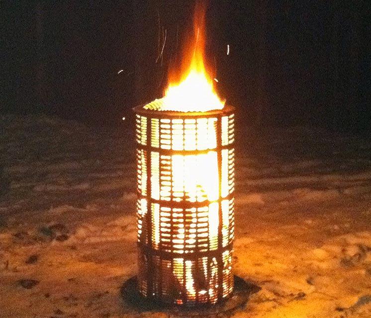 outdoor fireplace burn barrel